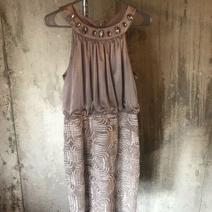 Jessica Howard Champagne Cocktail Dress. Size 8